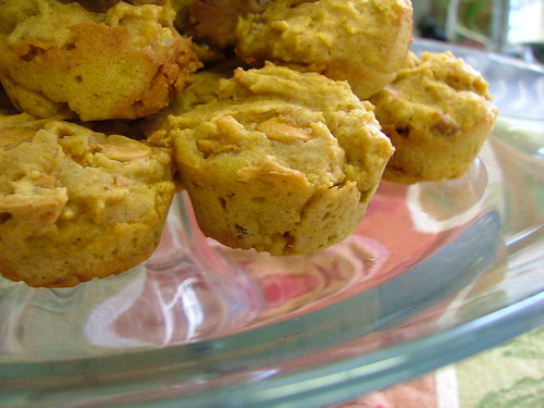 Mini Butterscotch Pumpkin Muffins