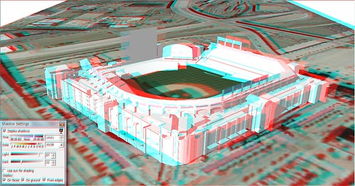 3D Coors Field-anaglyph-SketchUp model by Camelot