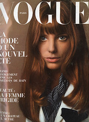 Vogue Paris Mai 1969 (Ze Cali Fairy) Tags: fashion magazine model vogue cover janebirkin jeanloupsieff frenchvogue vogueparis