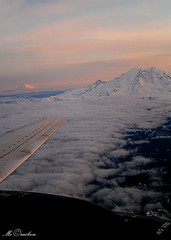 Rainier & Adams (Amanda Takes Pictures) Tags: sunset sky mountain snow amanda clouds plane adams wing rainier mtadams mtrainier mccracken amandamccracken amandamccrackenphotography