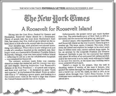 NYT Editorial 2007 Nov 5 - Mini Pic