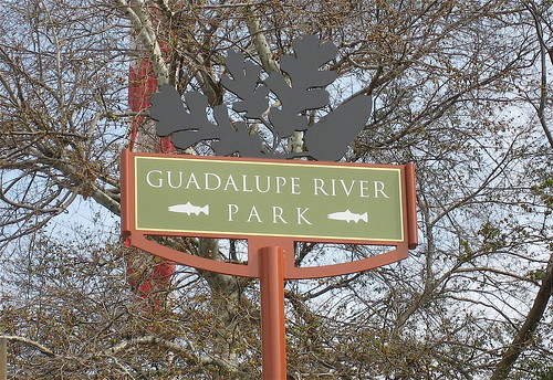 Guadalupe River Walk sign