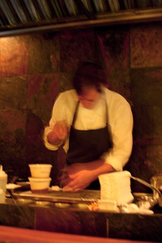 Executive Chef Wesley Genovart cooking