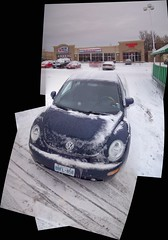 Chilly Beetle... (Steve Brandon) Tags: auto winter autostitch snow ontario canada cold car vw bug volkswagen geotagged restaurant parkinglot automobile mood hiver ottawa beetle voiture pharmacy bleak chilly suburb neige bleakness nepean newbeetle pharmacie volkswagenbug stripmall germancar volkswagenbeetle shoppersdrugmart stationnement  seafoodrestaurant compositephoto onefishtwofish foodbasics compactcar purplecar compositepicture merivaleroad volkswagennewbeetle merivalerd colonnadepizza ruemerivale cheminmerivale   freshfishmarket newvolkswagenbeetle seafoodandsteakrestaurant
