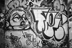 Twist / Tempt (B&W) (All Seeing) Tags: sanfrancisco blackandwhite bw art graffiti twist twister sfgraffiti twisty graffitiart tempt sanfranciscograffiti twisto lagraffiti losangelesgraffiti westcoastgraffiti oaklandgraffiti bayareagraffiti twistthr temptstn