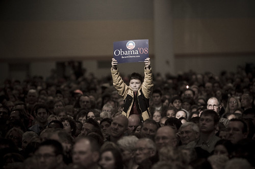 Young Obama Supporter in Des Moines, IA