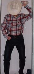 cowboy10 (splishsplash1123) Tags: cowboy jean denim jeanjacket wam westernwear wetdenim