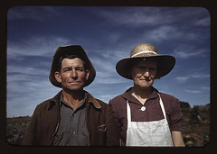 Jim Norris and wife, homesteaders, Pie Town, N...