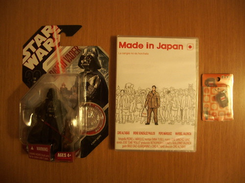 "Figura Darth Vader, corto ""Made in Japan"" y Domo-kun"