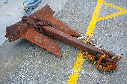 cornwall rusty quay anchor penryn