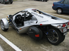 T-Rex (Lori Greig) Tags: green speed silver shiny texas technology gas ev silence motorcycle emissions economy soe solution trex futuristic fuel alternative sustainable sportscar roadster ecofriendly efficiency threewheeler highperformance zeroemissions streetlegal anawesomeshot miletechnologies