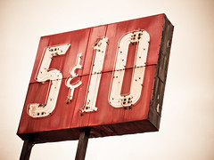 Five&Dime (beckijenn23) Tags: old red sign michigan weathered wyoming