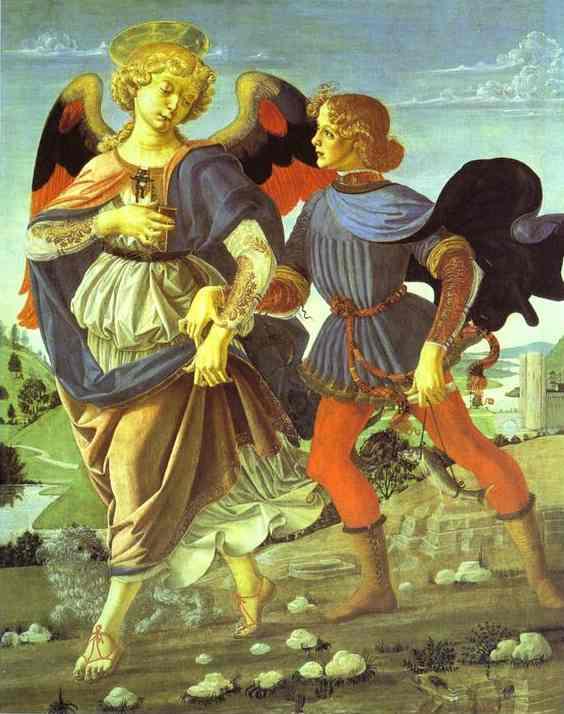 VERROCCHIO, Andrea del Tobias and the Angel, 1470-80