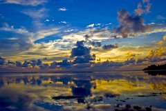 Evening reflection (matey_88 ( OFF )) Tags: sunset sea sky reflection colors evening majid maldives matey mohamed addu mywinners superbmasterpiece flickrdiamond uniquemaldives simplymaldives overtheexcellence betterthangood theperfectphotographer great123 sawaheli