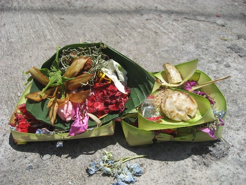 Typical Hindu offering on Bali