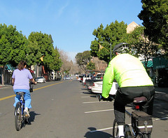 Bicycle Commuters in Palo Alto