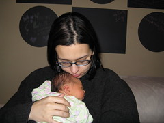 Mom holds baby Lilyth 2
