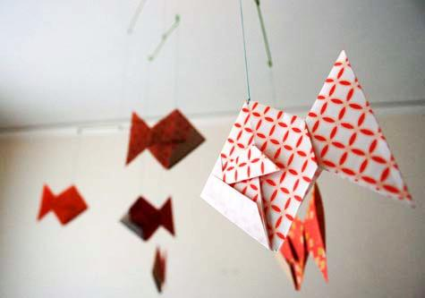 Diy Wednesdays Origami Mobile Design Sponge