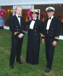 Naval Officers from HMS President