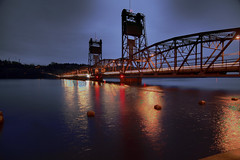 Stillwater Liftbridge (karenmeyere) Tags: city longexposure sea water minnesota boats lakes cityscapes bridges stpaul minneapolis trains waterfalls transportation planes fountains stillwater automobiles stcroixriver liftbridge bysea boatsandbridges karenmeyere karenhunnicutt karenmeyer karenhunnicuttphotographycom karenhunnicuttphotogrpahycom orifbysea