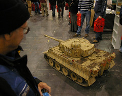 a4 Letting the cat out - a Tiger goes for a drive (Whipper_snapper) Tags: uk england london tiger salute docklands reenactors wargames eastlondon wargaming excellondon pzkwvi historicalreenactors salute08
