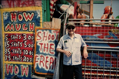 Nick Tosches, Coney Island, Photo by Frank Fortunato.