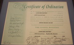My ordination cirtificate