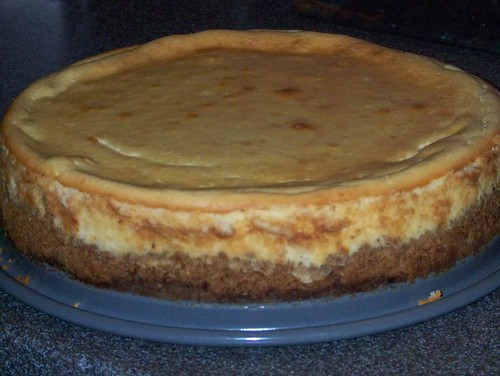finished cheesecake