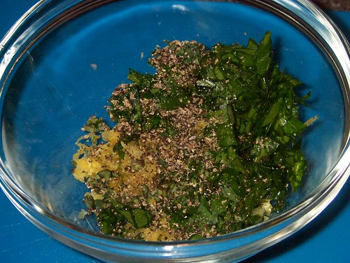 thyme and lemon herb crust