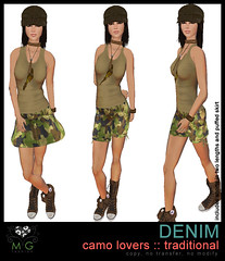 [MG fashion] DENIM camo lovers (traditional)