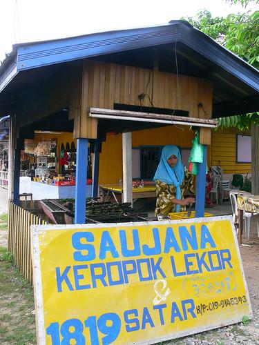 Satar stall in Terengganu