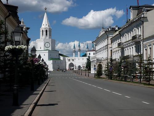 view from Kremlevskaya street
