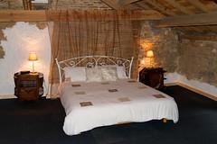 Sleeping loft of Arabella, Moulin Joyeux (tessadejong-severijns) Tags: accommodatie moulinjoyeux sleeping loft accommodation arabella limousin france thiat bb bedbreakfast slaapzolder bed