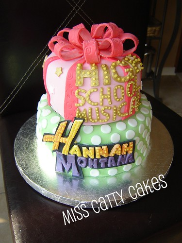 Excellent Hannah And Olivias Hannah Montana Hsm Birthday Cake A Photo On Birthday Cards Printable Inklcafe Filternl