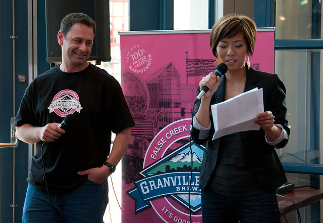 GIB brewer Vern with Global BC's Sophie Lui at launch
