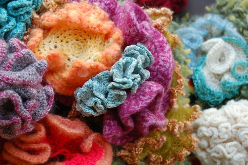 Crocheted Coral Reef detail