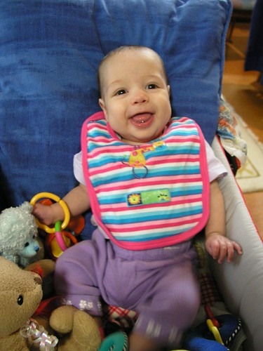 Talia at 6 months (3 corrected) - one year ago.