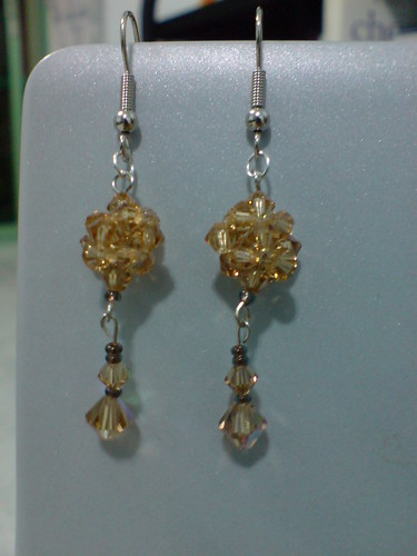 Beaded dangly earrings