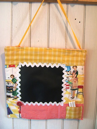 hanging chalkcloth memo quilt- Housewife