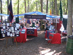 Clan Montgomery tent at Stone Mountain Highland Games