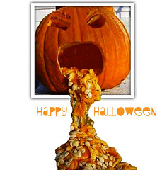 Happy Halloween (Scott Kasper Photography) Tags: halloween pumpkin jackolantern gross disgusting puke vomit hurl oob cmwd cmwdorange