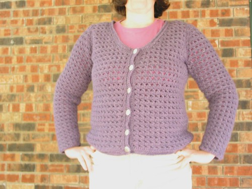 Heathered Purple Cardigan