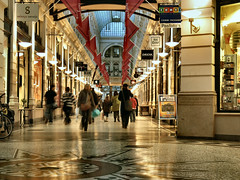 Shopping arcade (Pieter Musterd) Tags: shop thenetherlands denhaag flags shoppingmall expensive passage thehague luxe vlaggen supershot 10faves pieter007 hollanddancefestival anawesomeshot aplusphoto winkelpassage 1on1architecture pietermusterd goldstaraward vob