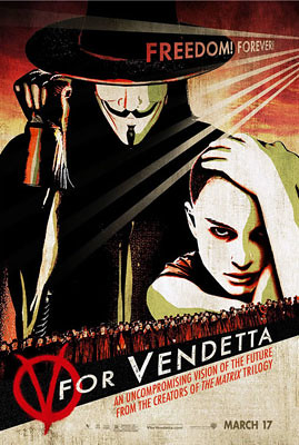 V for Vendetta (2006) freedom poster 2