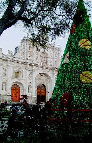 Cathedral at Christmas, Antigua Guatemala