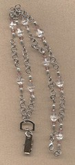 Chain Maille Lanyard (Wicked Oak Designs) Tags: crystals lanyard chainmaille