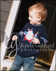 Warm Winter Day (Krista Gabbard) Tags: santa christmas boy portrait baby holiday playing outside outdoors toddler warm december candid seasonal
