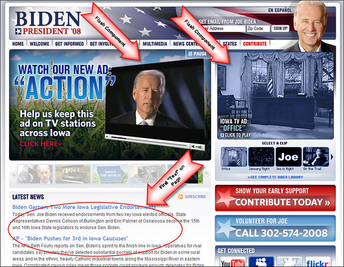 Joe Biden for President Main Page