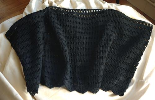 Poncho coton noir