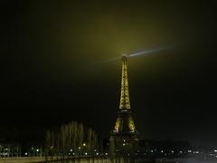 Eiffel Tower in a foggy night II